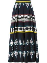 широкие брюки с геометрическим узором Antonio Marras