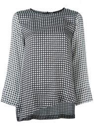 асимметричная блузка  Odeeh