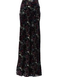 юбка с принтом пейсли  Roberto Cavalli