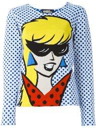 свитер вязки интарсия с рисунком Jeremy Scott
