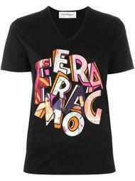 футболка с логотипом  Salvatore Ferragamo