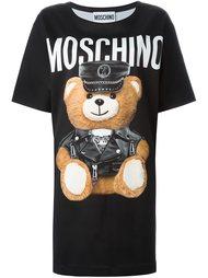 "платье-футболка с принтом ""teddy bear "" Moschino"
