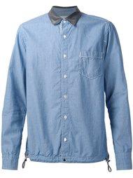 рубашка с контрастным воротником Sacai