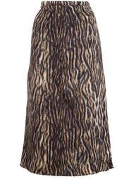 юбка миди с леопардовым принтом  Rochas
