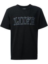 футболка с принтом спереди Sacai