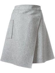 асимметричная юбка с запахом Carven