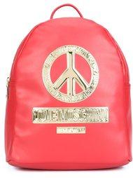 рюкзак с золотистыми деталями Love Moschino