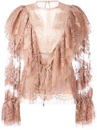 кружевная блузка Lanvin