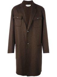 меланжевое пальто Marni