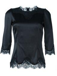 блузка с кружевной отделкой Dolce & Gabbana