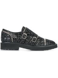 блестящие туфли-монки с ремешками Giuseppe Zanotti Design