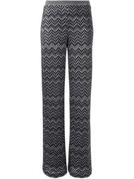 брюки зигзагообразной вязки   Missoni