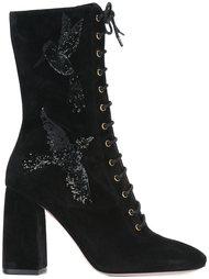 ботинки с птицами из пайеток Red Valentino
