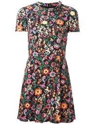 платье с короткими рукавами и цветочным узором Red Valentino