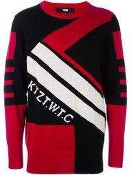 свитер с контрастными полосками   KTZ