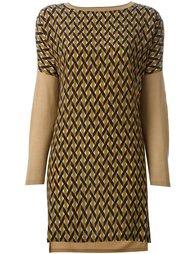 блузка с геометрическим узором спереди Agnona
