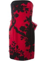 платье без бретелек с цветочным принтом Christian Dior Vintage