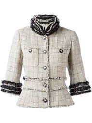 твидовый пиджак с бахромой Chanel Vintage