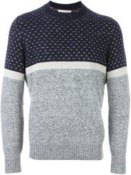 свитер колор-блок  Brunello Cucinelli