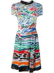 расклешенное платье с узором Mary Katrantzou