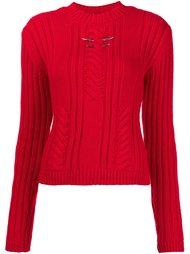 свитер с круглым вырезом  Mugler