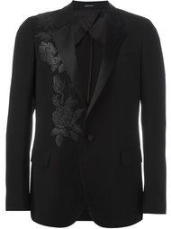 блейзер с цветочной вышивкой Alexander McQueen