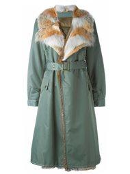 светло-болотное пальто  Mr & Mrs Italy