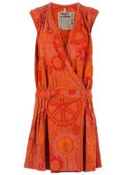 платье с запахом и узорной вышивкой Projet Alabama