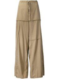 широкие брюки с панельным дизайном  Lost & Found Rooms