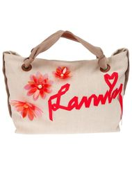 сумка-тоут с аппликацией логотипа  Lanvin