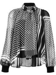 блузка с принтом шарфа  Sacai
