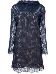 кружевное платье с капюшоном MSGM