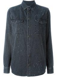 джинсовая рубашка с рваными деталями Givenchy