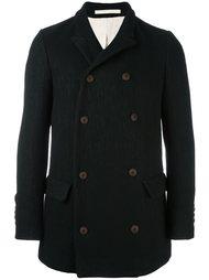 двубортное пальто с карманами Giorgio Armani