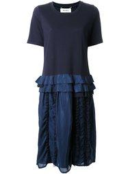 кружевное платье с оборками  Muveil