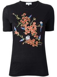 футболка с цветочной вышивкой Carven