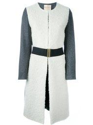 пальто дизайна колор-блок Erika Cavallini