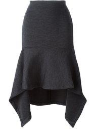 асимметричная расклешенная юбка миди Marni