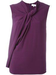 блузка с короткими рукавами и драпировкой Carven