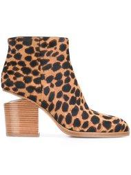 ботинки с леопардовым принтом   Alexander Wang
