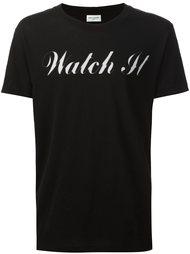футболка с контрастным принтом Saint Laurent