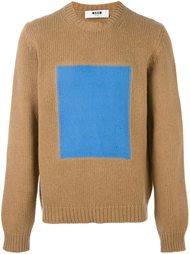 свитер с контрастным принтом  MSGM