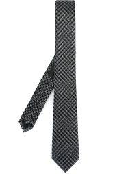 галстук с узором в ломаную клетку Z Zegna