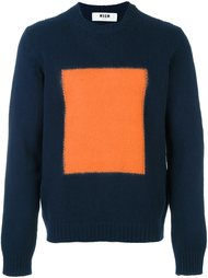 свитер с контрастной вставкой  MSGM