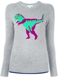 свитер с изображением динозавра  Coach