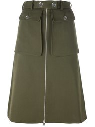 юбка в стиле милитари Alexander McQueen