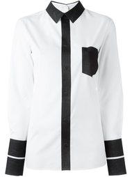 рубашка дизайна колор-блок Maison Margiela