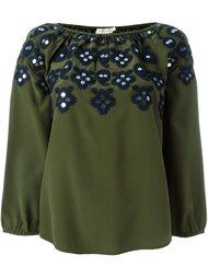 декорированная блузка  Tory Burch