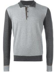 свитер с контрастной окантовкой  Canali