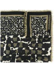 шарф с камуфляжным принтом Dsquared2